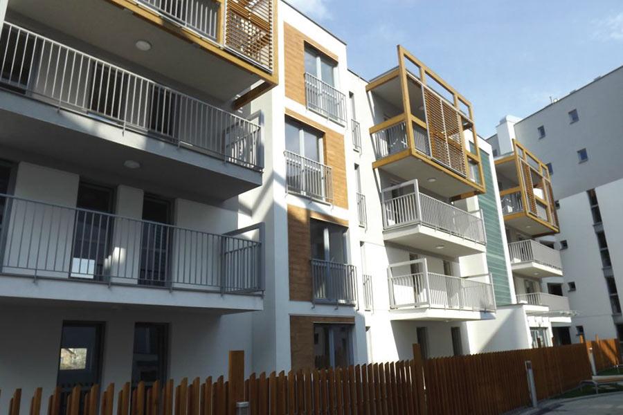 Apartamenty Wielicka - widok na osiedle
